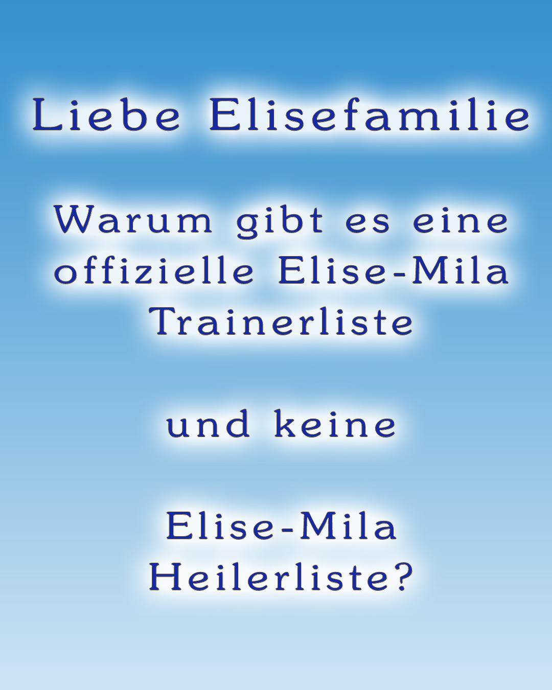 Elise-Mila Trainerliste
